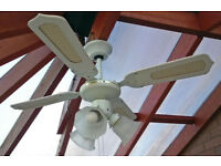 Ceiling fan: Multispeed with three lights