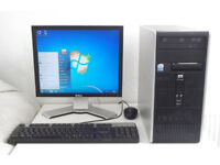 HP (Core 2 Duo, Monitor, K/M, Business, Office 2010, Acdsee 2018) All In One, Desktop PC, Computer