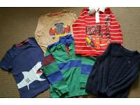 Selection of 5 kids tops