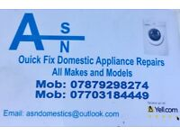 Domestic appliance repairs washing machine , dryers, dishwashers, cookers ovens
