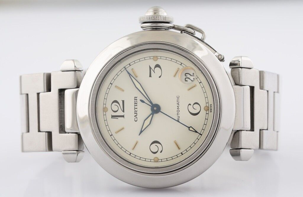 Cartier Pasha Ref #2324 Stainless Steel Automatic Wristwatch