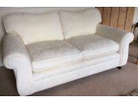 Sofa cream vgc