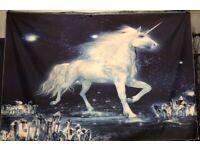 "HUGE unicorn wall decoration - NEW - 59"" x 39"" (crystals)"