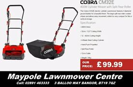 NEW Cobra Electric CM32E Cylinder Lawnmower - Great for small gardens!