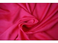 Silky Satin Fabric material Red PREMIUM 150 cm wide 60'' opaque wrinkle-free