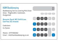 Bookkeeper Services Mid Ulster Area