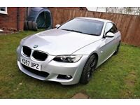 BMW 3 SERIES 320i M SPORT CONVERTIBLE HARDTOP RED LEATHER SAT NAV UPGRADED ALLOYS NOT A5 A4 330 325