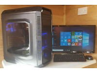 Fast PC Computer Tower Intel Core 2 Quad 2.50Ghz 4GB RAM 500GB HDD HDMi Win 10 Tower Only