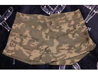 lovely army camouflage summer shorts size 10