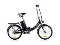 "Black Dillenger Cheetah 16"" Foldable Electric Bike / Bicycle- Brand New in Box"