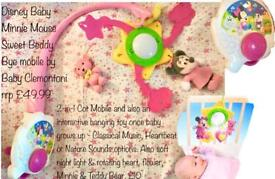 Disney Baby - Minnie Mouse Sweet Beddy Byes mobile - lights - music - soothing