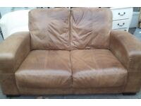 Real leather 2 seater with FREE delivery