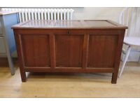 17th/18th century coffer with candle box/blanket box/chest/ trunk/ antique(1256)