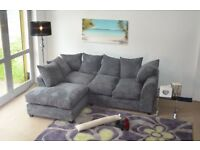 *14-DAY MONEY BACK GUARANTEE!* Dylan Jumbo Cord Corner Sofa Suite or 3 and 2 Set -SAME DAY DELIVERY