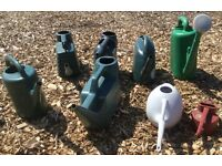 8x Plastic Watering Cans Suit Allotment etc