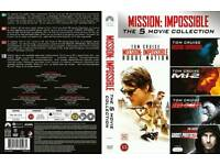 BRAND NEW SEALED COMPLETE BOXSET OF MISSION IMPOSSIBLE 5 x MOVIES DVD