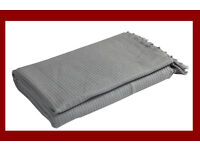 Large Smokey Grey Throw For Bed or Sofa