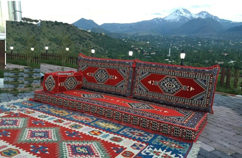 4 pcs Turkish Ottoman Cushion pillows Lounge Couch Sofa Corner Cover Set Palace 3