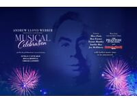 2 x Andrew Lloyd Webber Live at Chelsea 17th June tickets block B Musical celebration cost price