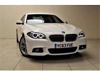 BMW 5 SERIES 2.0 520D M SPORT 4d AUTO 181 BHP + SAT NAV + AIR C (white) 2013