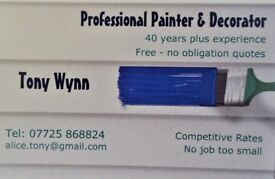 Professional Painter & Decorator - 40 years plus experience