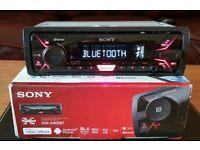 CAR HEAD UNIT SONY XPLOD A400BT MP3 PLAYER WITH BLUETOOTH AUX 4x 55 AMPLIFIER AMP STEREO RADIO BT