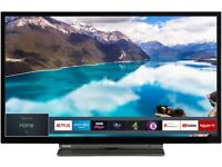 Toshiba 32-Inch HD Ready Smart TV with Freeview Play - Black/Silver