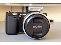 Sony NEX 5 14 MP Compact DSLR Camera, 18-55mm f3.5-5.6 Lens