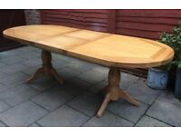 Oval, Real Oak Extending Dining Table, VGC.