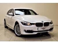 BMW 3 SERIES 2.0 320D LUXURY 4d 184 BHP + AIR CON + CLIMATE CON (white) 2012