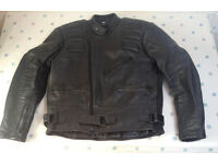 Leather motor cycle jacket with detachable lining