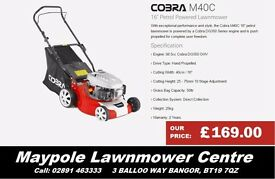 "NEW M40C 16"" Petrol Lawnmower Steel Deck - Great Cheap Lawnmower"