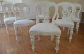 *** WOW *** GREAT DEAL ** !!! BEAUTIFUL !!! Solid French Antique Shabby Chic Dining Table & 6 Chairs