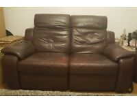 FREE 3 PIECE SUITE , RECLINER LEATHER