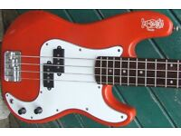 Encore Short Scale (3/4) Pbass.Much loved and worn.but not out. Same scale length as FenderJaguar.