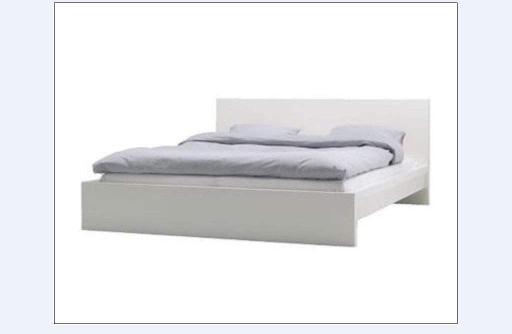 IKEA MALM WHITE KING SIZE OR SUPER KING BED FRAME ONLY