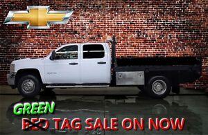 2013 Chevrolet SILVERADO 3500HD CREW CAB 4X4 FLAT DECK