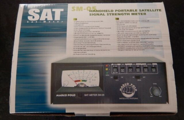 HAND HELD PORTABLE SATELLITE SIGNAL STRENGTH METER SM-05 (Boxed never used)  | in Aberdeen | Gumtree