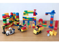 LEGO Duplo Construction Site (10518), Police Man & Bike PLUS over 100 bricks – PLAY SET