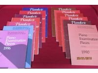 Collection of piano sheet music, books and grade exam papers. Please view all the photos,