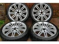"BMW 5 Series Msport E60 19"" spider alloy wheels - 5 x 120 - good tyres - £400"