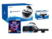 Playstation 4 VR Headset Starter Pack with VR Worlds + Move Accessories