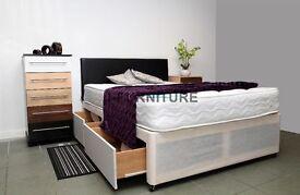 Best Price! Brand New Divan Bed With Good Quality Medium Firm Mattress.Cheapest Online!