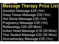 Female massage & beauty therapist
