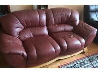 Real Leather Settee.