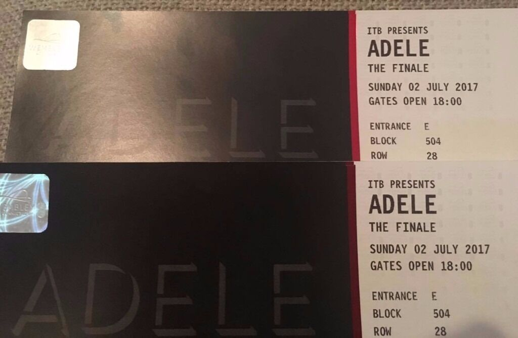 2 x Seated Adele Tickets - The Finale, Sun 2nd July (Wembley) - £260 for the pair