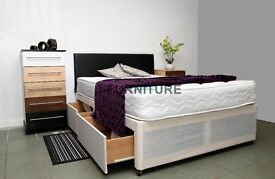 CHEAPEST ONLINE! BRAND NEW DIVAN BED WITH DEEP QUILT,GOOD QUALITY MATTRESS.22CM DEEP.FREE DELIVERY!