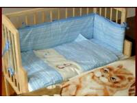 Baby cot with 3 different Adjustable options plus FREE Metress