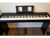 Yamaha P45 Digital Piano, Black with Matching Stand + FREE Adjustable Bench