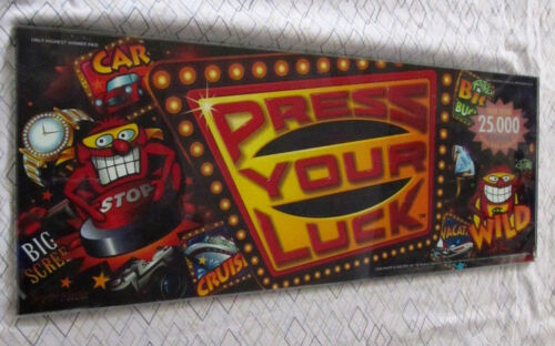 "Very Rare ""Press Your Luck"" Slot Machine Belly Glass"